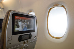 Emirates A380-800 interior Royalty Free Stock Photo