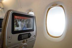 Emirates A380-800 interior Royalty Free Stock Photo