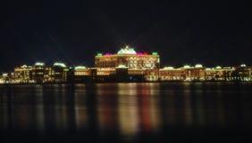 Emirates Palace. A night Shot of Emirates Palace in Abu Dhabi Royalty Free Stock Photography