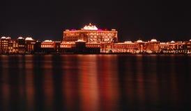 Emirates Palace. A night shot of Emirates Palace Royalty Free Stock Images