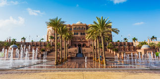 Emirates Palace in Abu Dhab Stock Photos