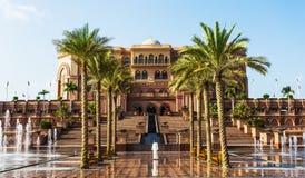 Emirates Palace in Abu Dhab stock image