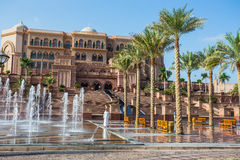 Emirates Palace in Abu Dhab Stock Images