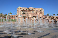 Emirates Palace in Abu Dhabi Stock Photo