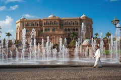 Emirates Palace in Abu Dhabi Royalty Free Stock Photos