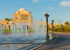 Emirates Palace in Abu Dhabi Royalty Free Stock Image