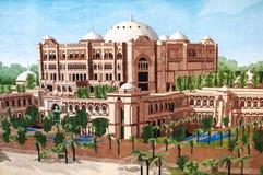 Emirates Palace on the carpet. This image was taken in Emirates Palace, Abu Dhabi Stock Photography