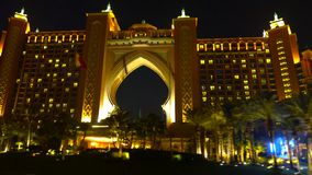 Emirates Palace dubai || BAI city at night royalty free stock images