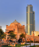 Emirates palace entrance  in AbuDhabi Royalty Free Stock Images