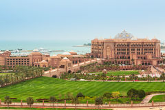 Emirates Palace and gardens in Abu Dhabi, UAE Stock Photo