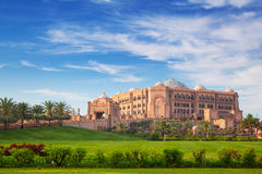 Emirates Palace and gardens in Abu Dhabi Royalty Free Stock Photo