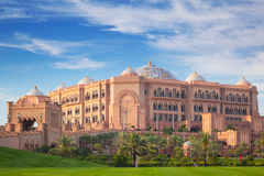 Emirates Palace and gardens in Abu Dhabi Royalty Free Stock Images