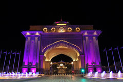 Emirates Palace gate at night. Abu Dhabi Stock Photos