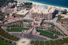 Emirates Palace Hotel in Abu Dhabi. A view of Emirates Palace Hotel in Abu Dhabi Stock Photo
