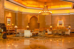 Emirates Palace indoor Royalty Free Stock Image