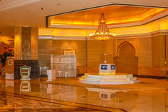 Emirates Palace interior Stock Photography