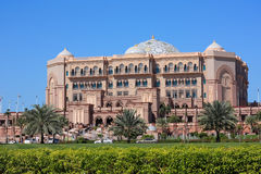Emirates Palace luxury hotel in Abu Dhabi Royalty Free Stock Photos