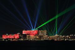 Emirates Palace in National day. On the UAE Stock Photos