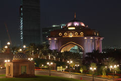 Emirates Palace at night, Abu Dhabi Stock Image