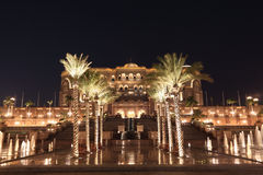 Emirates Palace at night, Abu Dhabi Royalty Free Stock Images