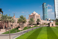 Emirates Palace Park Stock Photos