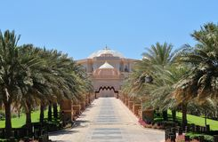 Emirates Palace View From VIP Gate Royalty Free Stock Photos
