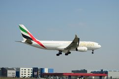 Emirates plane Stock Photos