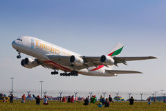 A380 Emirates Royalty Free Stock Photography
