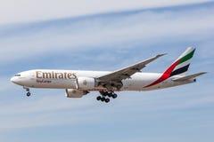 Emirates SkyCargo Boeing 777 F Royalty Free Stock Image