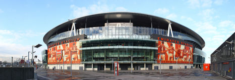 Emirates stadium. The Emirates stadium in London UK, home of Arsenal the gunners, as seen from the outside royalty free stock images
