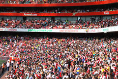 Emirates Stadium crowd Stock Images