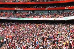 Emirates Stadium crowd stock images