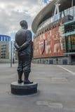 Emirates Stadium dell'arsenale della statua di Herbert Chapman Fotografie Stock Libere da Diritti