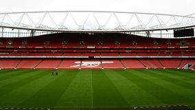 Emirates Stadium Londra fotografie stock libere da diritti