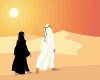 Emirates sunset Stock Photo