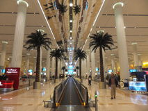 Emirates Terminal in Dubai International Airport Royalty Free Stock Photos