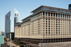 The Emirates Towers stock photos