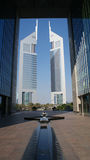 Emirates Towers. The first towers built in Dubai Royalty Free Stock Images