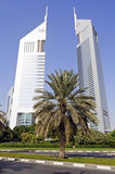 Emirates Towers in Dubai Stock Photography