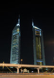 The Emirates Towers in Dubai Stock Photos