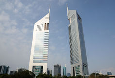Emirates Towers in Dubai Royalty Free Stock Photos