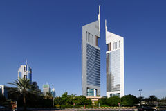 Emirates towers in Dubai Royalty Free Stock Photography