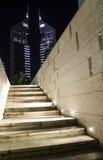 Emirates towers at night. Royalty Free Stock Photos