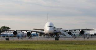Emiratesflygbuss A380 800 Fotografering för Bildbyråer