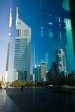 EmiratesTowers, DIFC, Дубай, UAE Стоковое фото RF