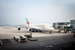 Emirati Airbus A380 Immagini Stock