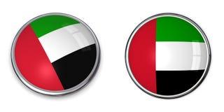 Emirati dell'Arabo del tasto della bandiera Fotografie Stock