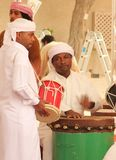 Emirati men dancing Stock Images