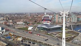 Emiratluft-linje kabelbil london Arkivbilder