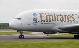 Emiratos A380 Foto de archivo